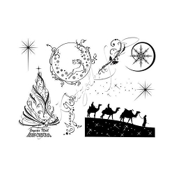 Katzelkraft - A5 Unmounted Rubber Stamp Sheet - Rois Mages (Wise Men) (5.5