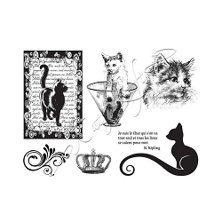 Katzelkraft - A5 Unmounted Rubber Stamp Sheet - Chat Kipling (Kipling Cats) (5.5