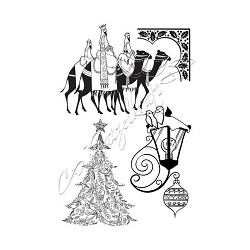 Katzelkraft - A5 Unmounted Rubber Stamp Sheet - Lumieres de Noel (Christmas Lights) (5.5