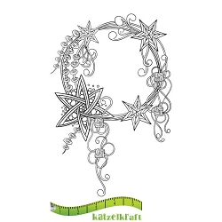 Katzelkraft - Unmounted Rubber Stamp - Couronne de Noel (Christmas Wreath)