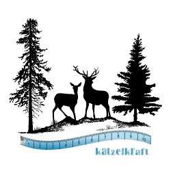 Katzelkraft - Unmounted Rubber Stamp - Winter Scene