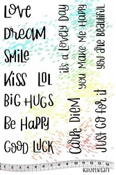 Katzelkraft - A5 Unmounted Rubber Stamp Sheet - Carpe Diem Quotes (5.5