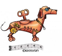 Katzelkraft - Solo Unmounted Rubber Stamp - Robot Dog