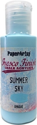 Paper Artsy - Fresco Finish Acrylic Paints - 50ml Bottle - Summer Sky (opaque)