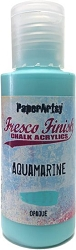 Paper Artsy - Fresco Finish Acrylic Paints - 50ml Bottle - Aquamarine (opaque)