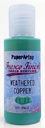 Paper Artsy - Fresco Finish Acrylic Paints - 50ml Bottle - Weathered Copper (semi-opaque)