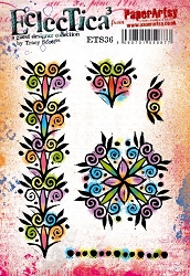 Paper Artsy - Eclectica Cling Mounted Rubber Stamps - Tracy Scott 36