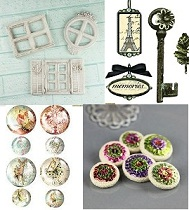 Hard Embellishments (resins, metals, junkyard findings, pebbles)