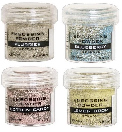 Ranger - 6 new Speckle embossing powders