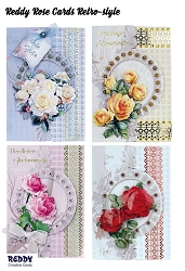 Reddy Creative Cards - 3D Card Kit  - Retro-Style Rose Cards Kit