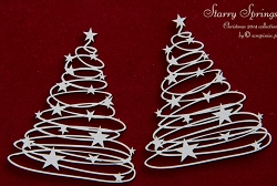 Scrapiniec Chipboard - Starry Springs Christmas Trees