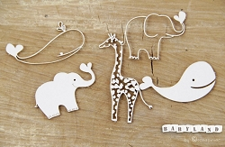 Scrapiniec Chipboard - Babyland Zoo Animals