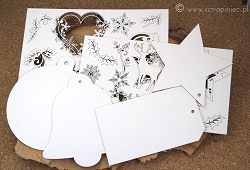 Scrapiniec Chipboard - Old Fashioned Christmas Set