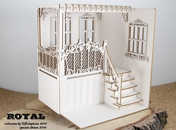 Scrapiniec Chipboard - Royal House Porch 3D