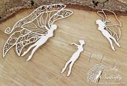 Scrapiniec Chipboard - Lady butterfly