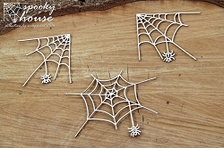 Scrapiniec Chipboard - Spooky House spiders