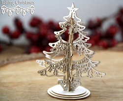 Scrapiniec Chipboard - 3D Christmas Tree