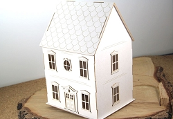 Scrapiniec Chipboard - Family House 3D