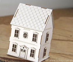 Scrapiniec Chipboard - 3D Tiny Family House