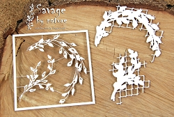 Scrapiniec Chipboard - 2 layers wreath