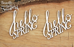 Scrapiniec Chipboard - Hello Spring