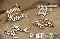 Scrapiniec Chipboard - Stay Cool