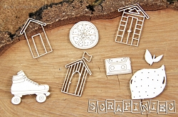 Scrapiniec Chipboard - Beach Huts