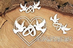 Scrapiniec Chipboard - Heart Decors