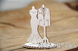 Scrapiniec Chipboard - Small Wedding Models 3D