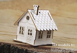 Scrapiniec Chipboard - Micro Hut 3D