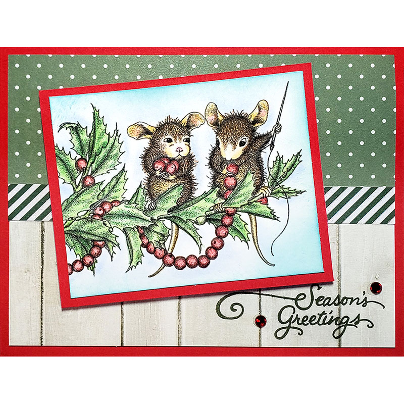Stampendous - 11 Christmas House Mouse Stamps