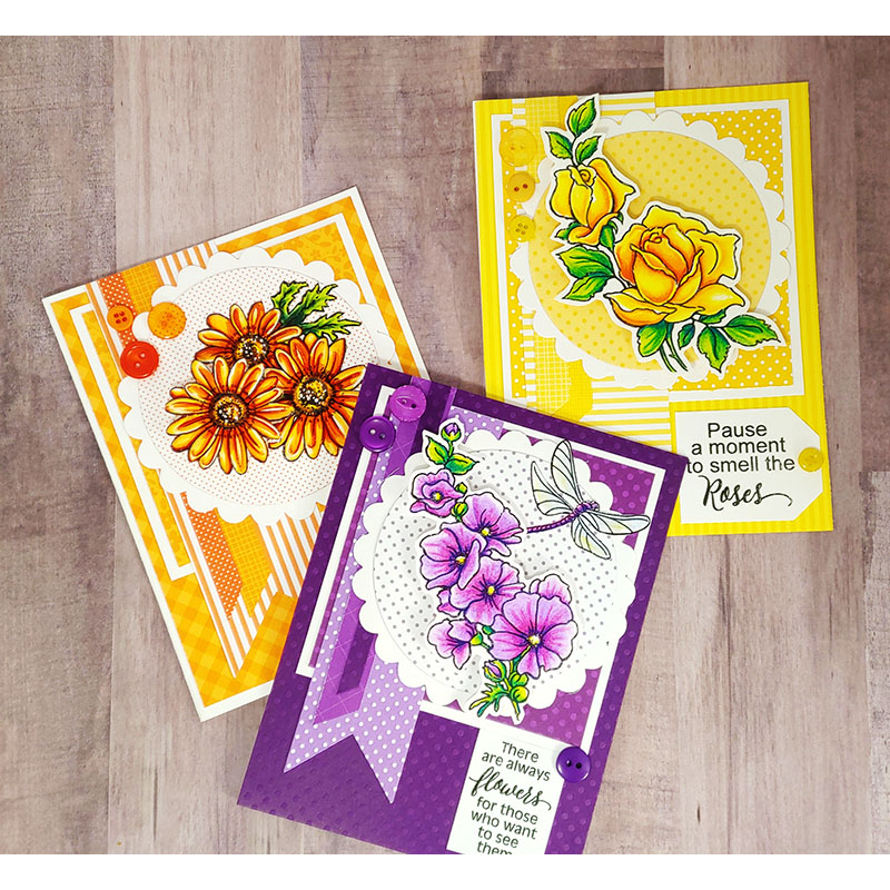 Stampendous - 6 new flower stamp sets
