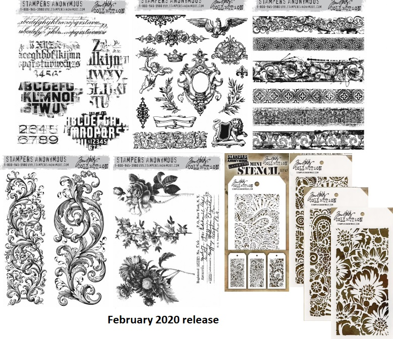 Tim Holtz February 2020 Stamps & Stencils