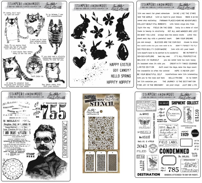 Tim Holtz January 2020 Stamps & Stencils