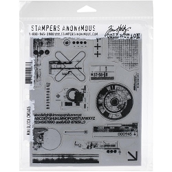Stamper's Anonymous / Tim Holtz - Cling Mounted Rubber Stamp Set - Mini Glitch