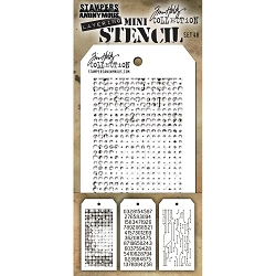 Stamper's Anonymous / Tim Holtz - Mini Layering Stencils - Set #48