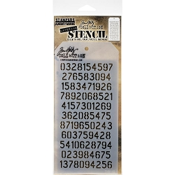 Stamper's Anonymous / Tim Holtz - Layering Stencil - Digits