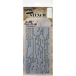 Stamper's Anonymous / Tim Holtz - Layering Stencil - Circuit