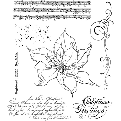 Stamper's Anonymous / Tim Holtz - Cling Mounted Rubber Stamp Set - The Poinsettia