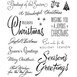 Stamper's Anonymous / Tim Holtz - Cling Mounted Rubber Stamp Set - Christmastime #3