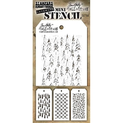 Stamper's Anonymous / Tim Holtz - Mini Layering Stencils - Set #50