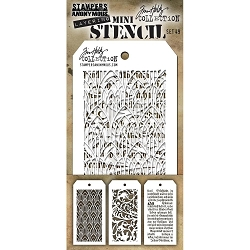 Stamper's Anonymous / Tim Holtz - Mini Layering Stencils - Set #49
