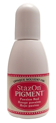 Tsukineko - StazOn Pigment Refill - Passion Red