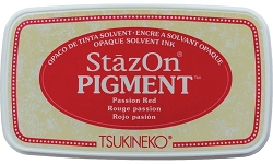 Tsukineko - StazOn Pigment Ink Pad - Passion Red