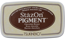 Tsukineko - StazOn Pigment Ink Pad - Chocolate Brown