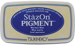 Tsukineko - StazOn Pigment Ink Pad - Mariner Blue