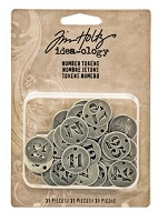 Advantus - Tim Holtz Idea-ology - Number Tokens Silver Charms