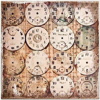 Tim Holtz Market District - Watchmaker Burlap Panel