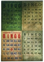 Tim Holtz Market District - Bingo Matchbook Note Pad