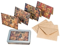 Tim Holtz Market District - Collectibles Note Card Set